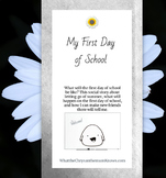 """A social story for going back to school: """"My First Day of"""