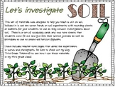 A Soil Study Unit: Experiments and Investigations