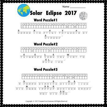A Solar Eclipse 2017 Fun Pack