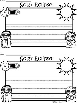 A+ Solar Eclipse ... Writing Paper