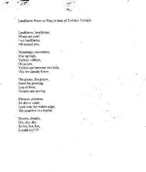 A Song To learn Landforms