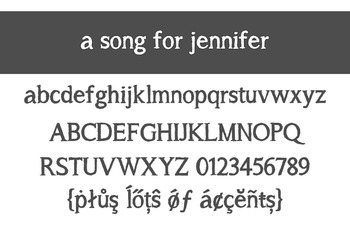 A Song for Jennifer  Bold Font for Commercial Use