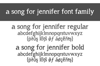 A Song for Jennifer Font Family for Commercial Use