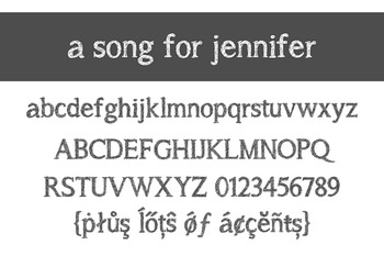A Song for Jennifer Font for Commercial Use