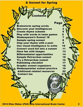 A Sonnet for Spring - Secondary Writing and Publishing