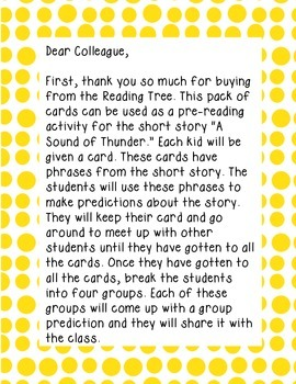 A Sound of Thunder Block Party Cards