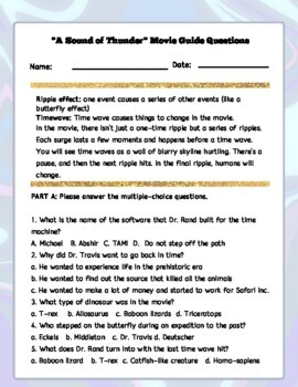 A Sound of Thunder Butterfly Effect Creative Writing Assignment