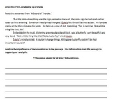 """A Sound of Thunder"" Keystone-Constructed Response (Essay) Question"