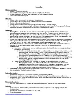 A Sound of Thunder Ray Bradbury Lesson Plan, Worksheets ...