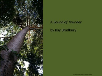 A Sound of Thunder Short Story Lesson