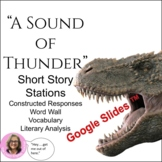 """A Sound of Thunder"" Short Story Unit: CCSS"