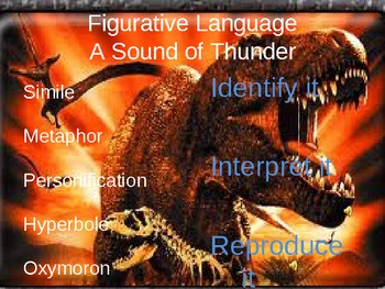 A Sound of Thunder by Ray Bradbury Figurative Language Power Point and Quiz