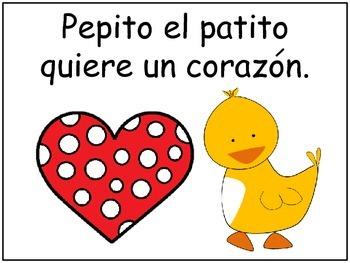 A+ Spanish Easy Reader...Pepito El Patito y el Dia de San Valentin
