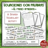 A Spanish Vocabulary Activity: Word Math - El medio ambien