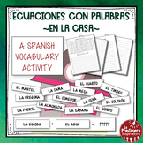 A Spanish Vocabulary Activity: Word Math - En la casa | At Home