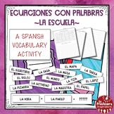 A Spanish Vocabulary Activity: Word Math - La Escuela   School