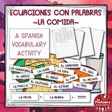 A Spanish Vocabulary Activity: Word Math - La comida | Food