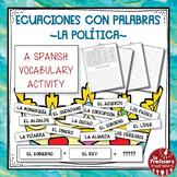 A Spanish Vocabulary Activity: Word Math - La política   P