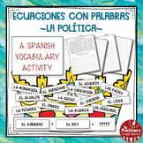 A Spanish Vocabulary Activity: Word Math - La política | P