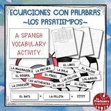 A Spanish Vocabulary Activity: Word Math - Los pasatiempos