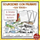 A Spanish Vocabulary Activity: Word Math - Los viajes   Tr