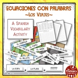 A Spanish Vocabulary Activity: Word Math - Los viajes | Tr
