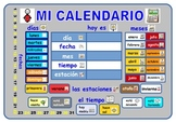 A Spanish calendar  with added symbols.