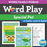 A Special Pet - at Word Family Poem of the Week - Short Vowel Fluency + Digital