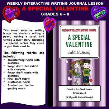 Interactive Writing Notebook Lesson - A Special Valentine - CC Aligned
