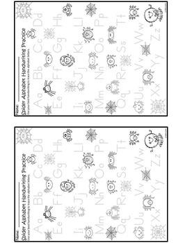 A+ Spider Alphabet Handwriting Practice