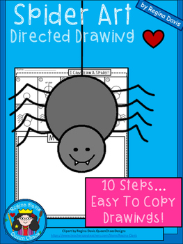A+ Spider Art: Directed Drawing