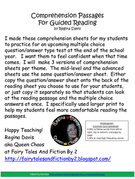 A+ Spider Comprehension:Differentiated Instruction For Guided Reading