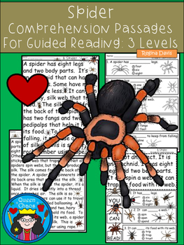 A+ Spider Comprehension:Differentiated Instruction For Gui