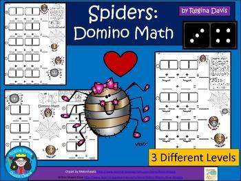 A+ Addition Spider: Domino Math