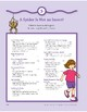 A Spider Is Not an Insect!: Language and Math Activities