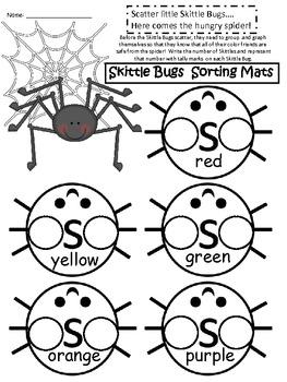 A+ Spider Skittles Sort & Graph:  Skittle Bugs Math