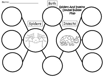 A+ Spiders And Insects Double Bubble Maps