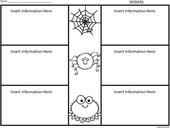 A+ Spiders: Easy Plans...Editable Papers For Spider Lessons