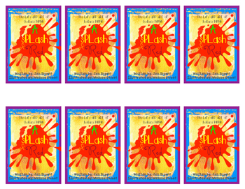 """A Splash of Red"" Literature Trading Card Set"