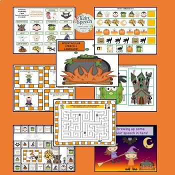 A Spooktacular Pre-K Speech, Language & Literacy Halloween-Themed Unit