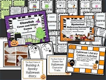 A Spooky Bundle of  Halloween Literacy Activities