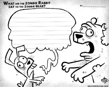A Spooky doodle book