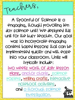 A Spoonful of Science- GROWING BUNDLE