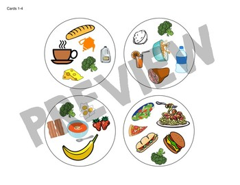 Spot the Match game for Food Vocabulary : Works in ANY Language / ESL