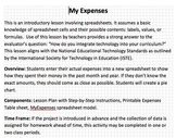 A Spreadsheet and Charting Activity: My Expenses