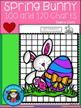 A+ Spring Bunny: Numbers 100 and 120 Chart