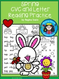 A+ Spring: CVC Words And Letter Reading Practice
