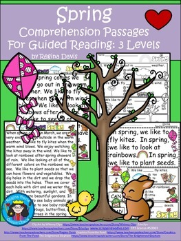 A+ Spring Comprehension: Differentiated Instruction For Guided Reading