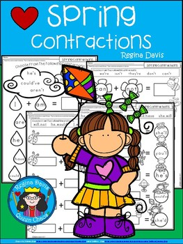 A+ Spring Contractions...4 Activity Pages