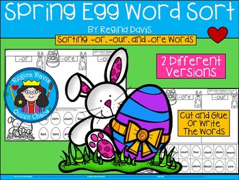A+ Spring Eggs Word Sort: Differentiated Instruction....2